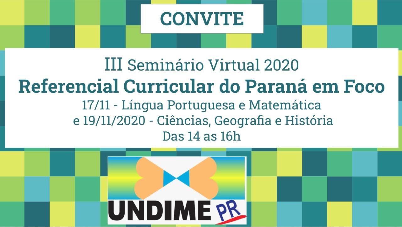 III Seminário Virtual de 2020
