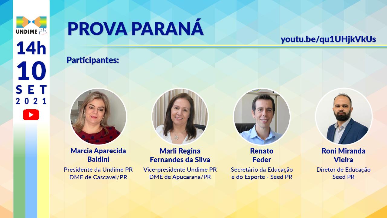 Prova Paraná é tema de live da UNDIME PR