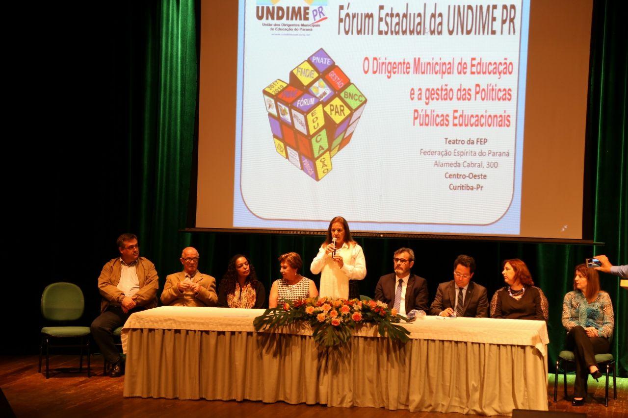 Fórum Estadual da Undime-PR discute problemas  e soluções da educação nos municípios