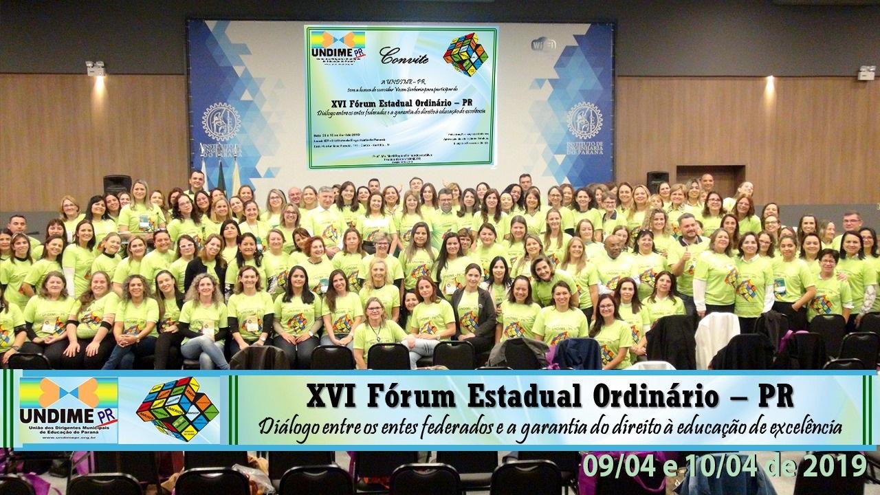 16º Fórum Ordinário da Undime-Paraná reúne mais de 200 participantes