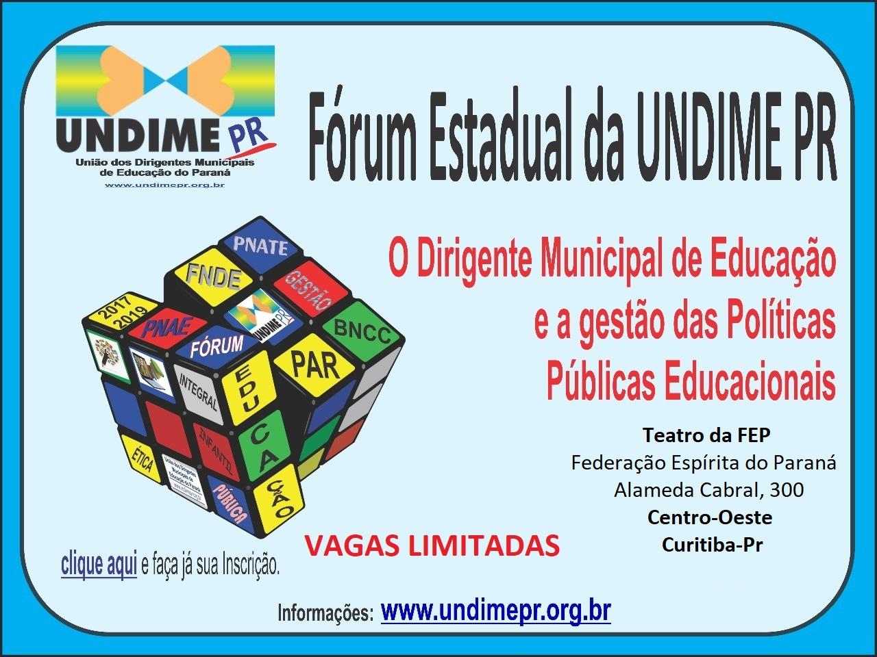 Fórum Estadual da UNDIME-PR