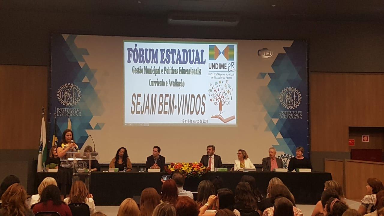 Undime-Paraná reúne 360 participantes em Fórum Estadual